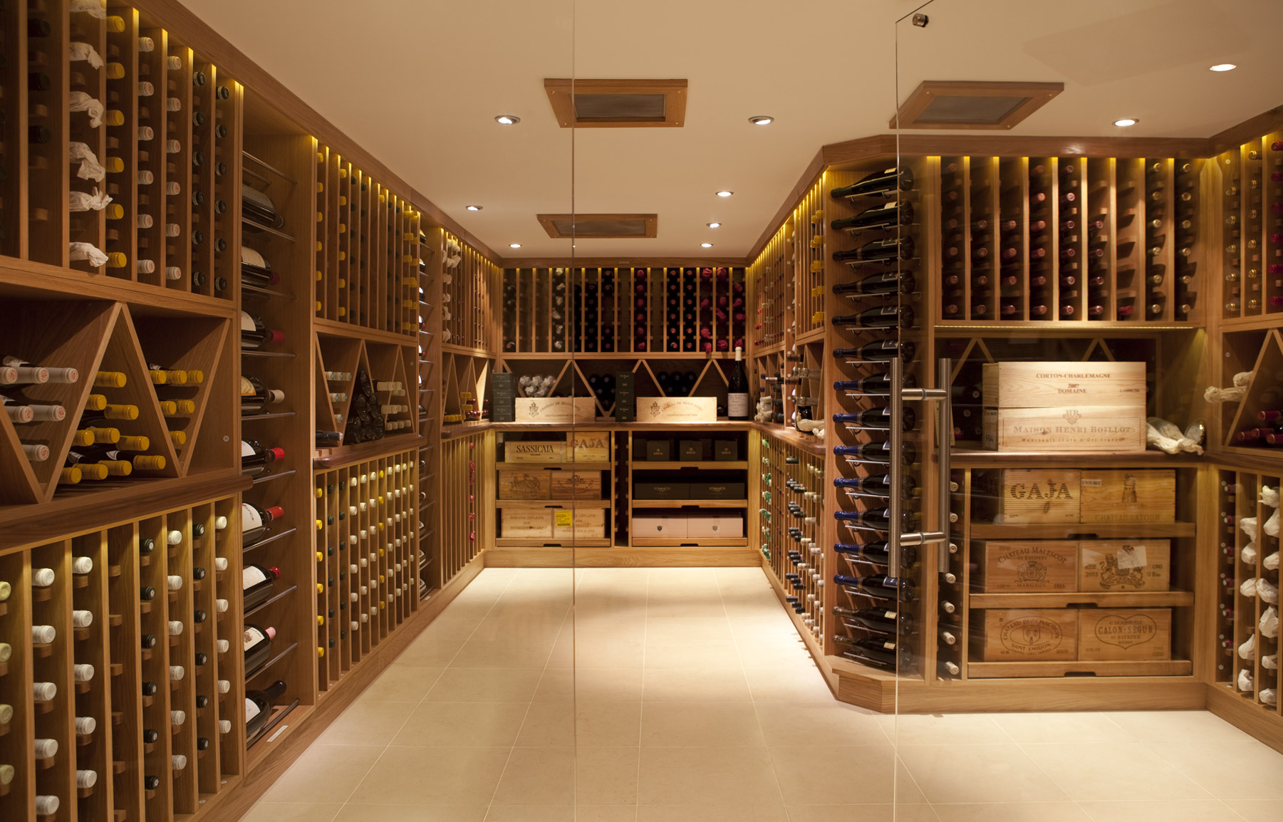 Custom design and build wine room